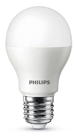 Philips LED-Lampe (ersetzt 60 Watt), EEK A, E27 2700 Kelvin - warmweiß, 9 Watt, 806 Lumen - 1